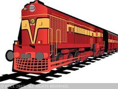 Locomotive clipart indian rail One train of machine engine