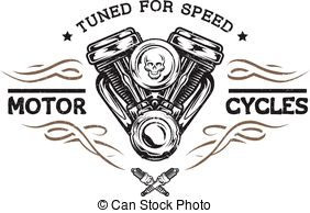 Engine clipart motorbike In Vector motor Clipart style