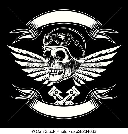 Engine clipart motorcycle Motor graphic vector skull csp28234663