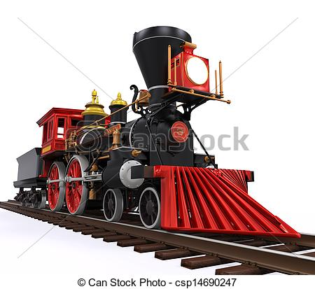 Engine clipart old train Old  background csp14690247 Drawing