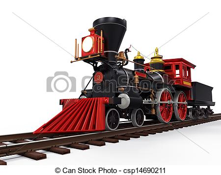 Engine clipart old train Old  background csp14690211 Clipart