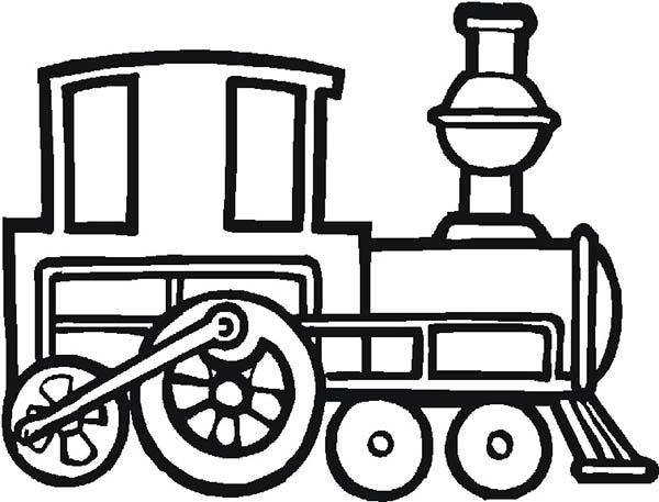 Engine clipart old train Free Page Clipart Coloring old