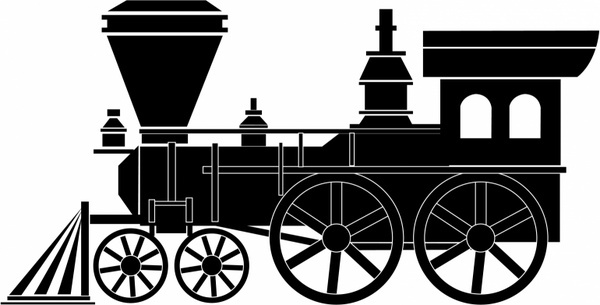 Engine clipart old train Download  vector free Train