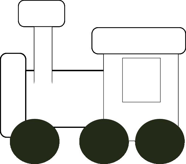 Engine clipart outline Download Clker art Train