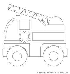 Engine clipart outline Fire Firetruck Fire Image: truck