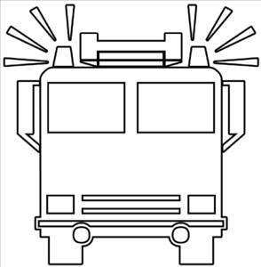 Engine clipart outline Fire Art vector Art art