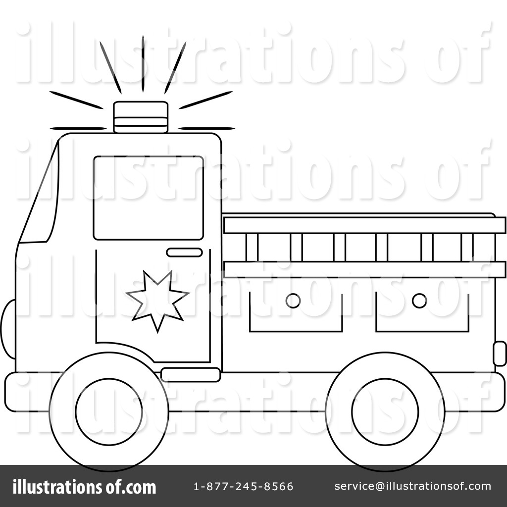 Fire Truck clipart coloring book Outline  Truck Outline :