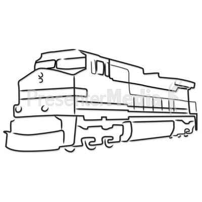 Engine clipart outline Train Presentation for Clip Engine