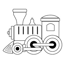 Locomotive clipart long train Coloring Train Page Panda Free