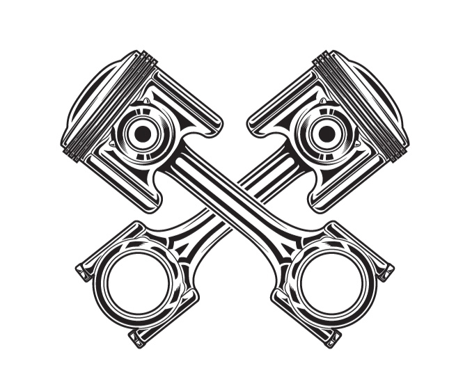 Motorcycle clipart piston Line of  of motorcycle