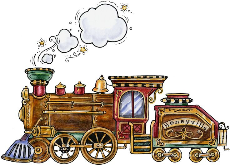 Drawn railroad christmas 25+ folk train Clipart illustration
