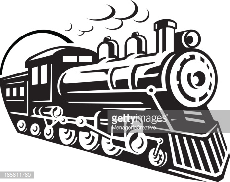 Train clipart curved #14