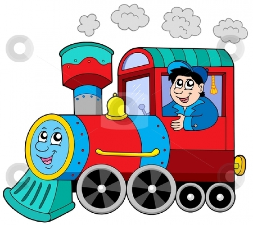 Locomotive clipart long train Easy art free Hight engine