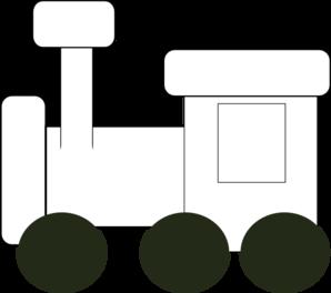 Train clipart template #2