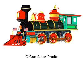 Locomotive clipart vintage train Train  Art Engine Illustrations