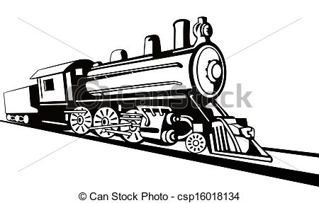 Drawn railroad side view Side Stock Drawings View Illustration