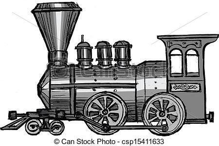 Locomotive clipart steam Vector cartoon of steam steam