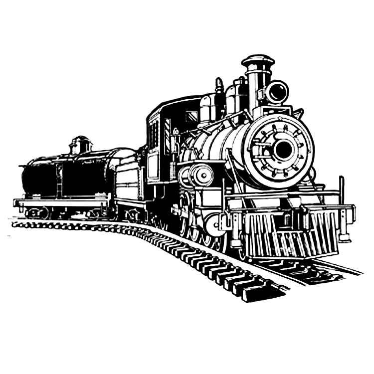 Railways clipart steam engine #9
