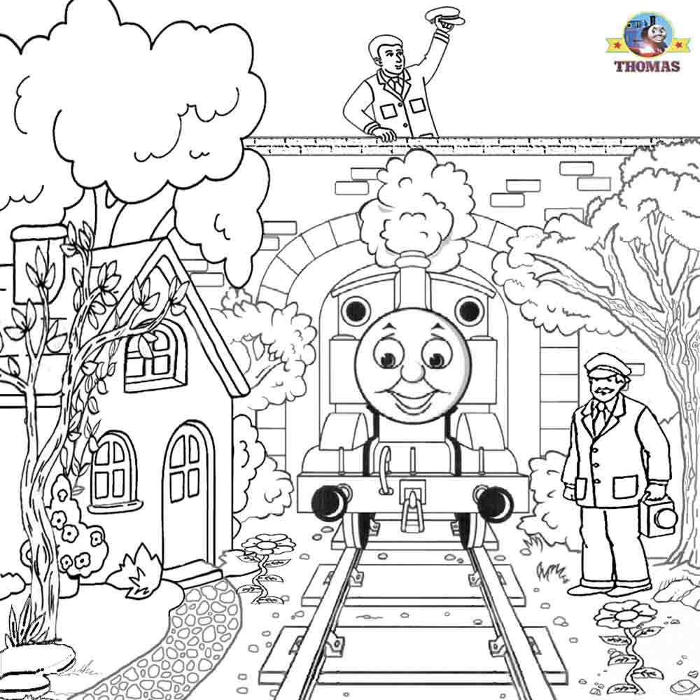 Railways clipart thomas train #12