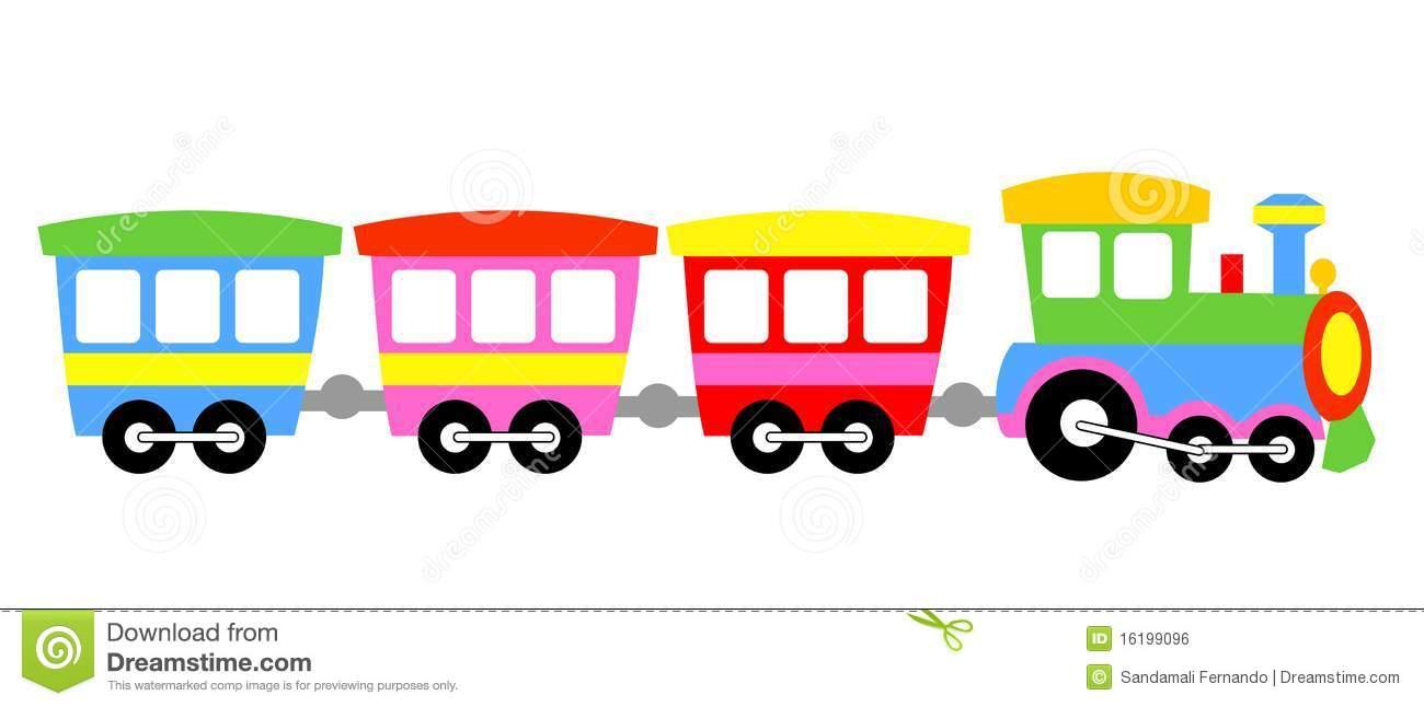 Train clipart cute #4