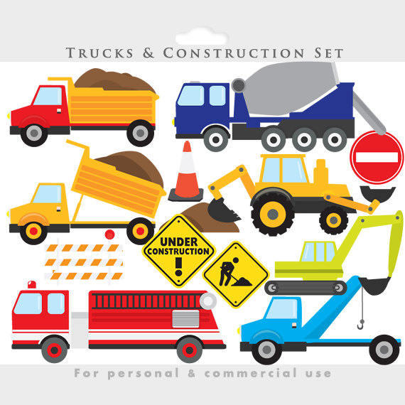 Fire Truck clipart commercial Transportation clip clip truck backhoe