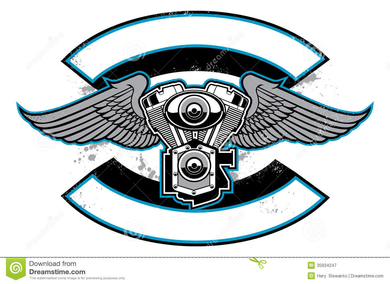 Engine clipart vector free download Royalty Engine Motorbike Free Badge