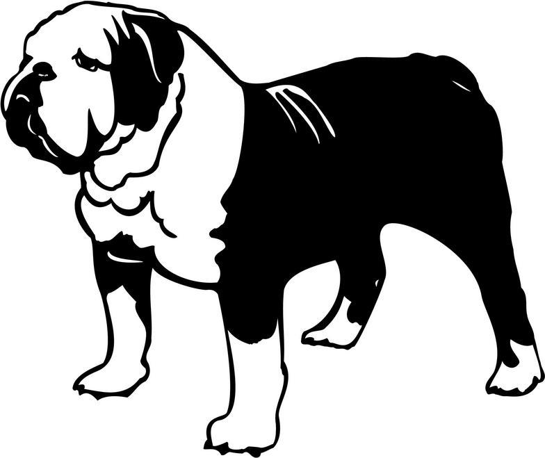 Bulldog clipart silhouette Free Images Clipart Panda english%20bulldog%20clipart