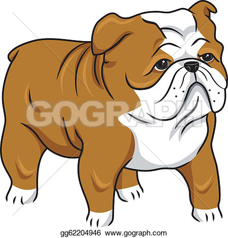 English Bulldog clipart GoGraph · Free Royalty bulldog