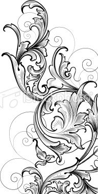 Engraving clipart acanthus leaf The and forms ornament WOODCARVER