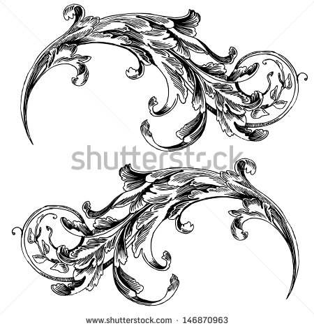 Engraving clipart acanthus leaf Grs transfers These Patterns ::