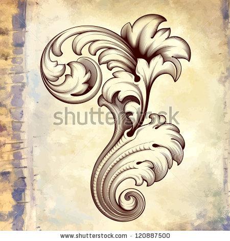 Engraving clipart acanthus leaf Floral Patterns frame Free engraving
