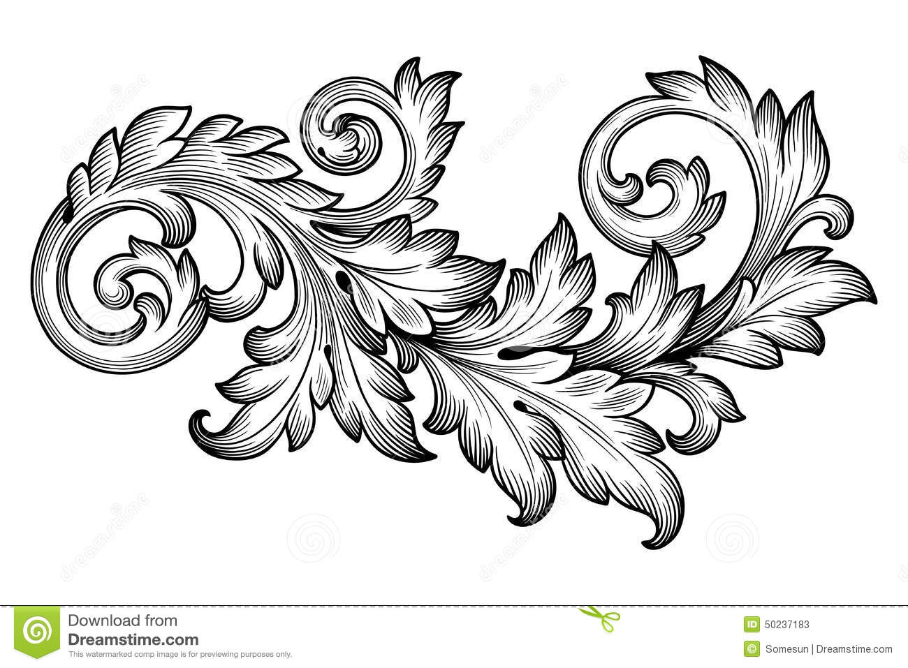 Decoration clipart baroque Pattern – Patterns & Pictures