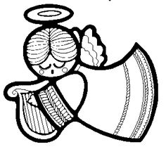 Amd clipart angel Clip angel religious black on
