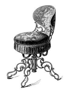 Furniture clipart vintage chair Antique music and music swivel
