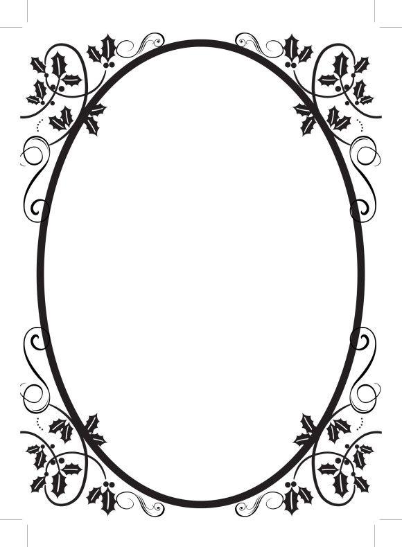 Engraving clipart border (52443 Printables: 1345 Clip oval