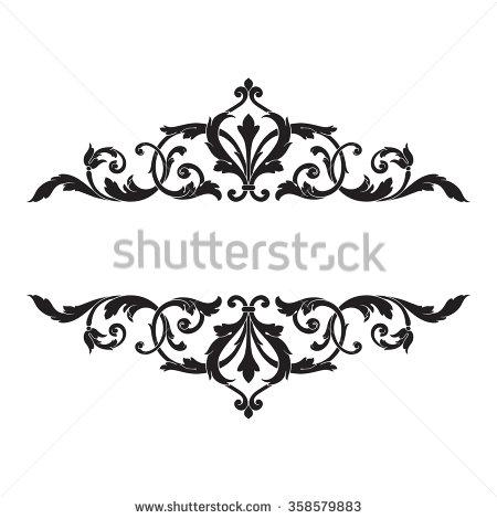 Engraving clipart border Frame vintage ornament engraving vector
