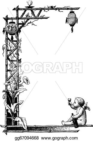 Engraving clipart border Engraving border of Art a
