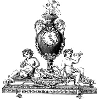 Engraving clipart clock  Clip Engraving Engraving Art