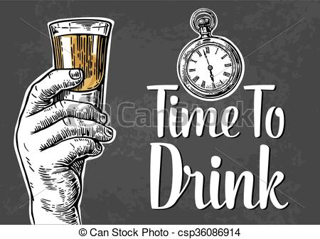 Engraving clipart drink glass Holding hand alcohol element drink