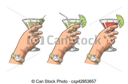 Engraving clipart drink glass Holding Clipart Vintage of Female