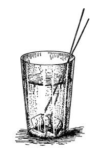 Engraving clipart drink glass Of on fashioned with vintage