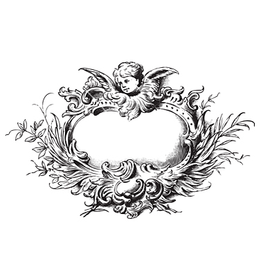 Engraving clipart floral Antique  engraving VectorStock® on