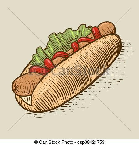 Engraving clipart food Food fast fast dog of