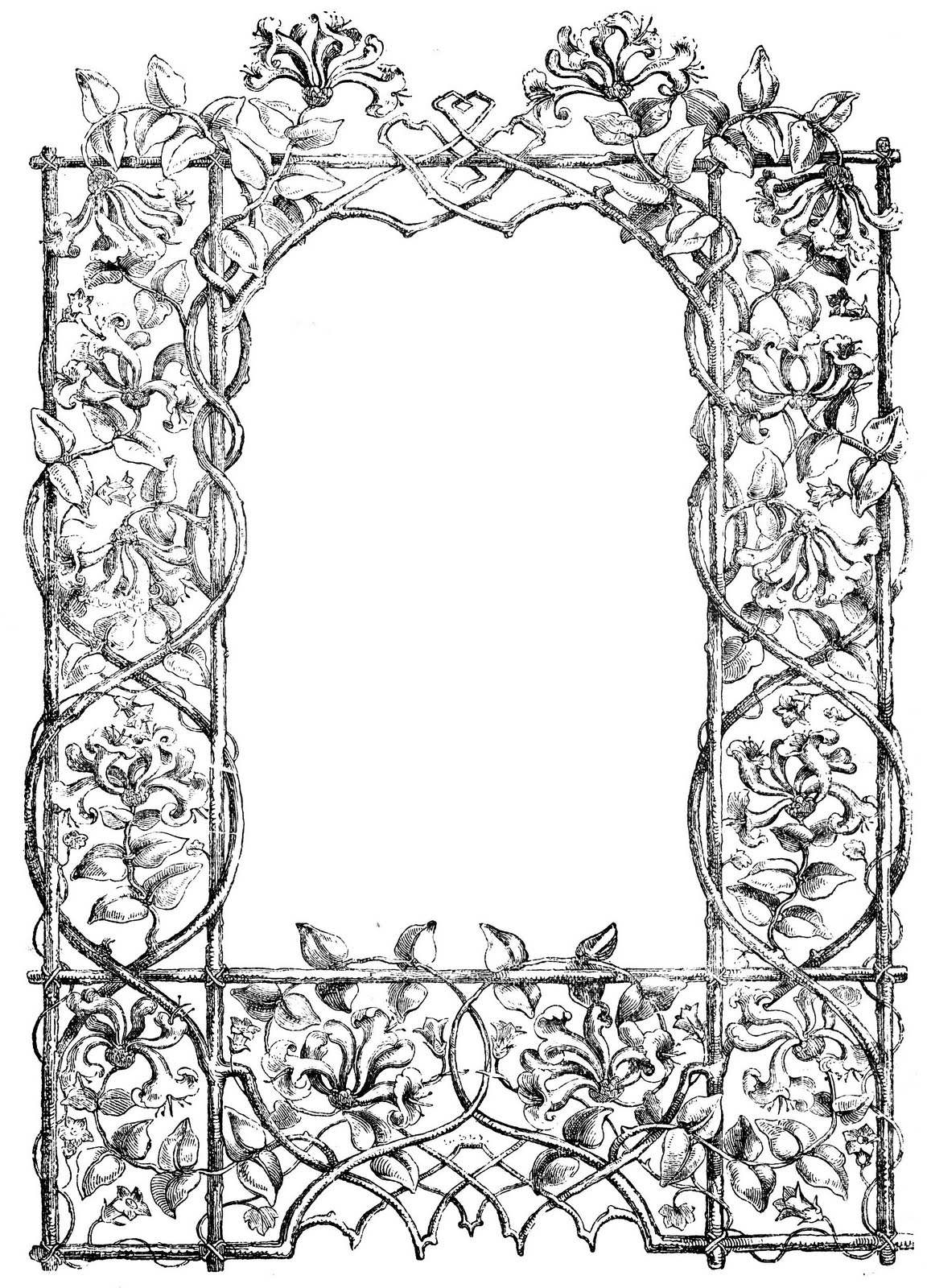 Engraving clipart frame And Vintage Faux clip Art