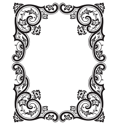 Engraving clipart frame By engraving vector frame Antique
