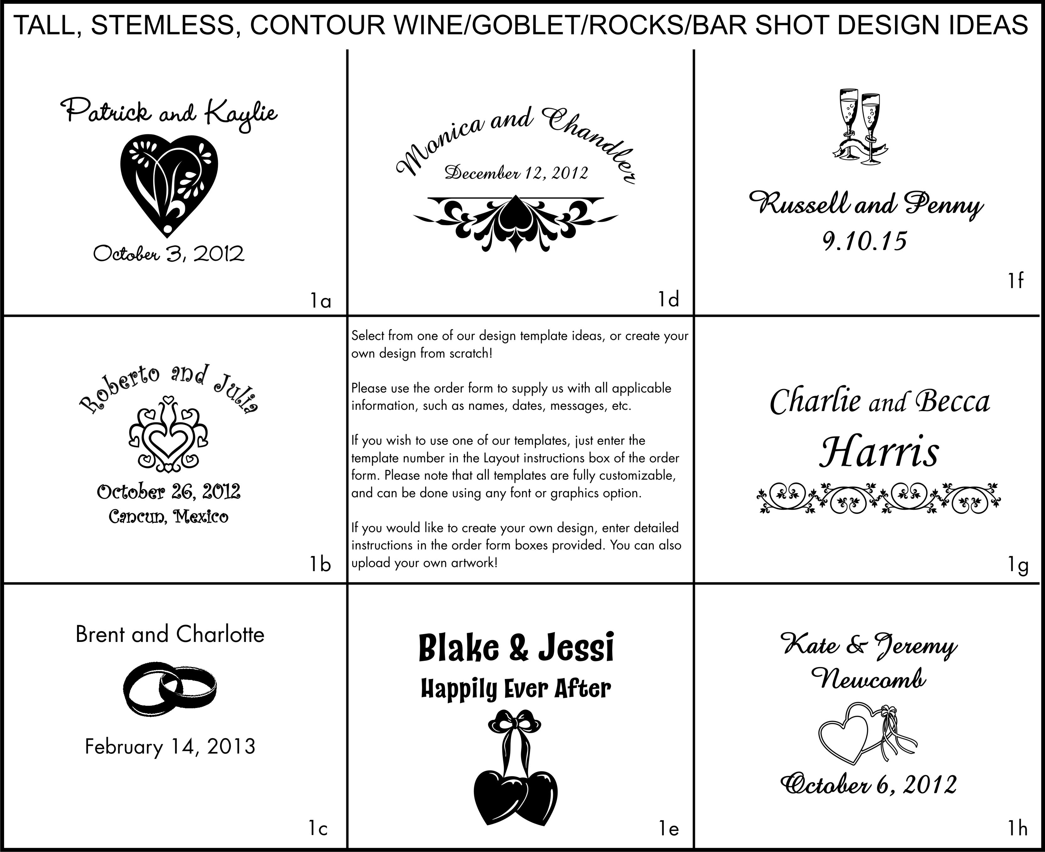 Engraving clipart glassware Engraved Wedding Glasses our For