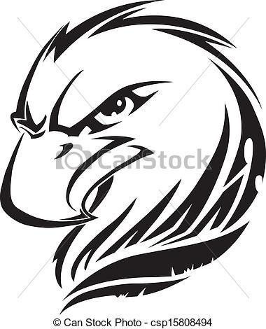 Engraving clipart logo Vintage of head EPS Eagle