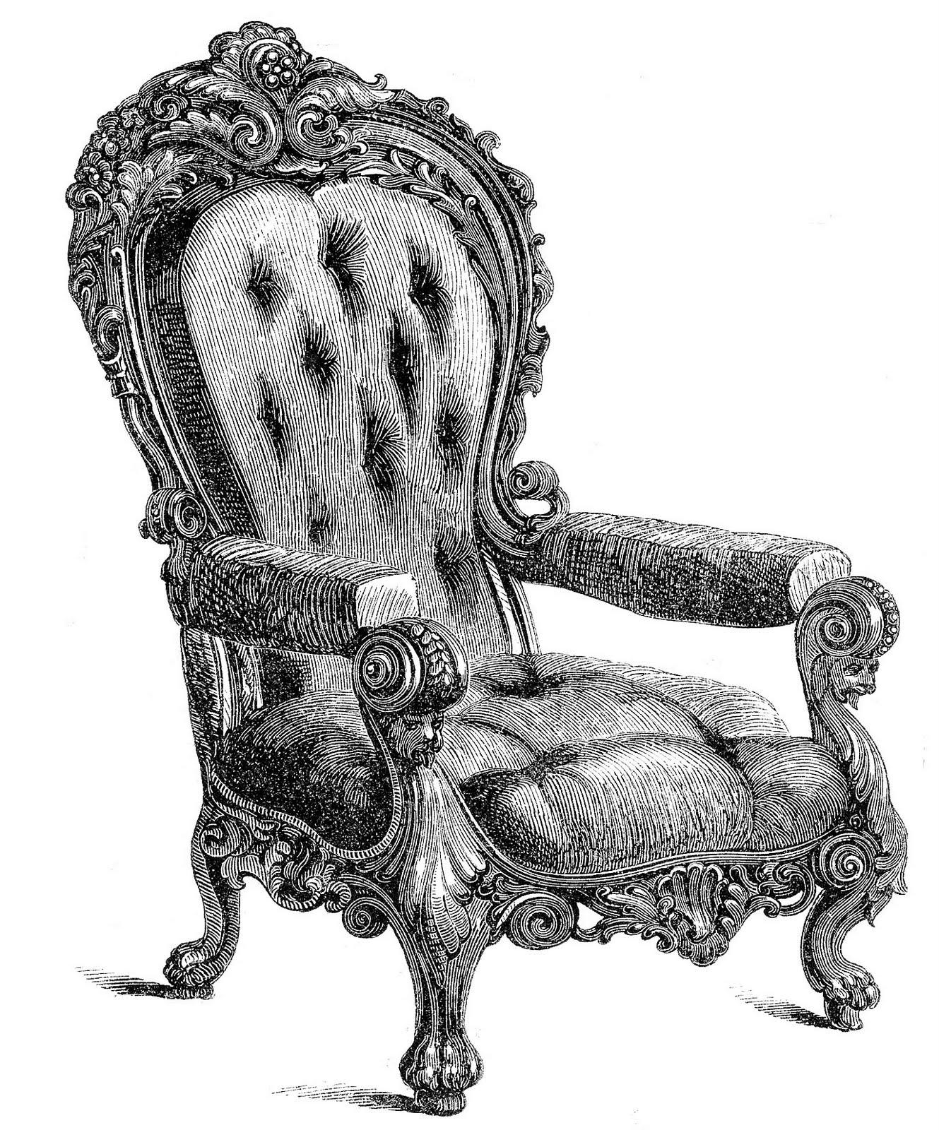 Throne clipart antique furniture Clip Vintage 2 2 clip