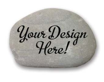 Engraving clipart rock stone Decor river engraved natural Customized