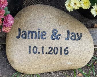 Engraving clipart rock stone Stone Gift Wedding Wedding Engraved